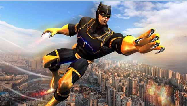 Süper Panther Uçan Kahraman Şe Android Aksiyon Oyunu indir apk