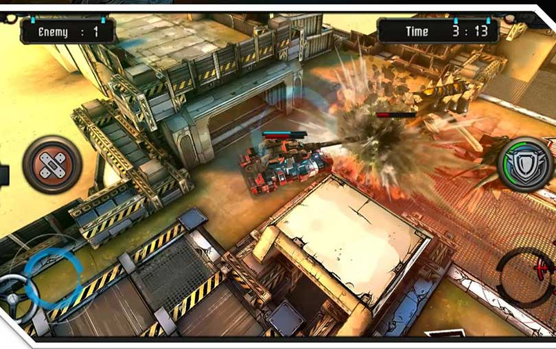Sci-Fi Panzer Battle War of DIY Tank Android Oyunu indir