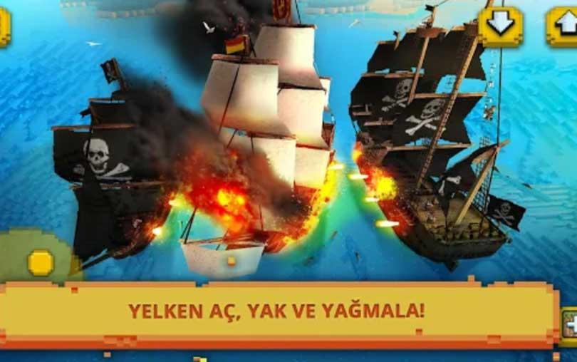 Pirate Ship Craft Android savaş gemisi aksiyon oyunu indir