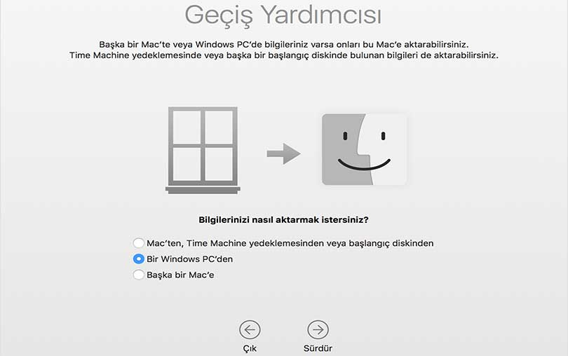 Windows'tan-Mac'e-Veri-Nasıl-Aktarma nasıl yapılır