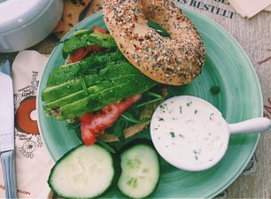 perfect bagel in Amsterdam