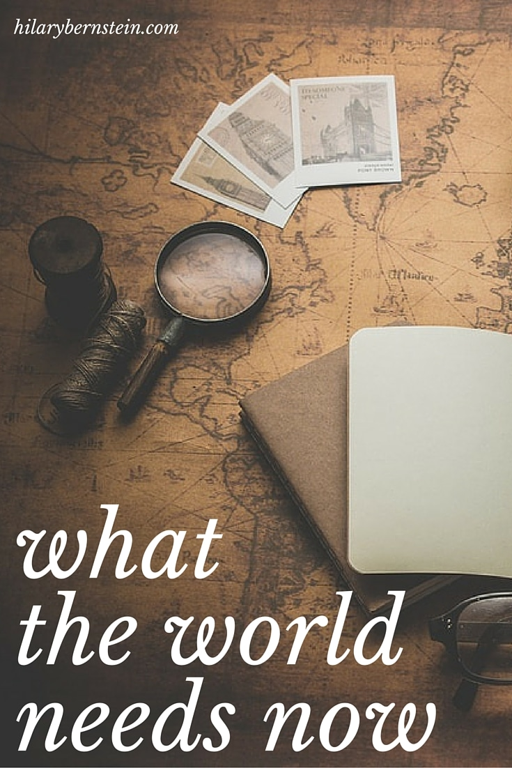With chaotic current events, sometimes it doesn't seem like problems have solutions. Yet it's actually easy to discover what the world need now.