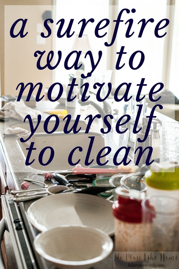 Wondering how to feel motivated to clean? Here's a surefire way to motivate yourself to clean.