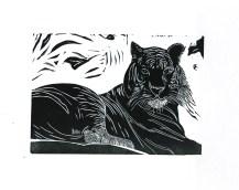 Linocut Lion