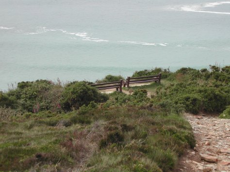 Memorial benches, Wheal Kitty, St Agnes