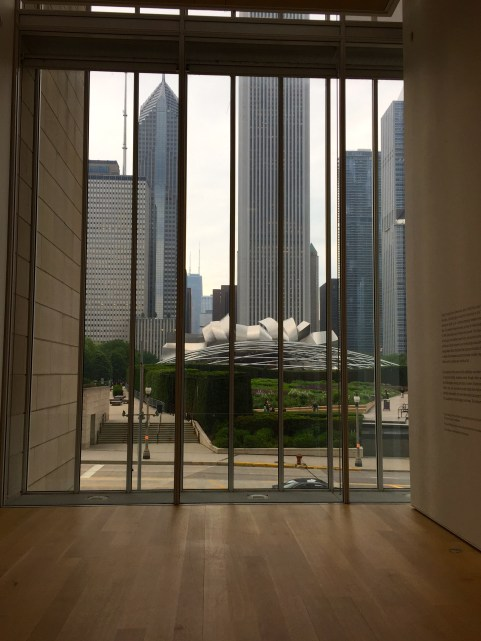 View of the Band Shell in Millennium Park from the Art Institute