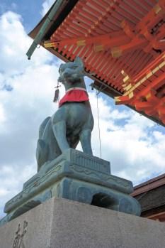 The fox is the deity of this shrine