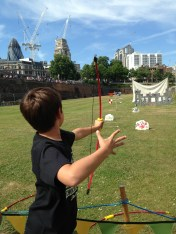 Archery in the moat
