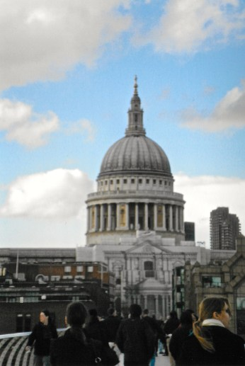 View of St. Paul's from the Millennium Briidge