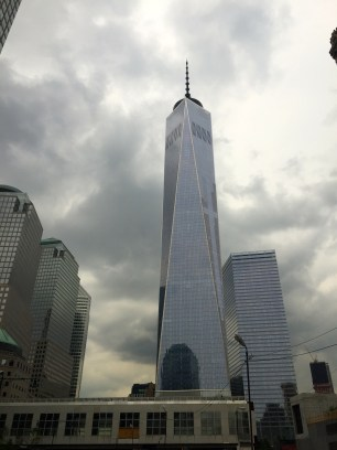View of the Freedom Tower from the Statue Cruises boat