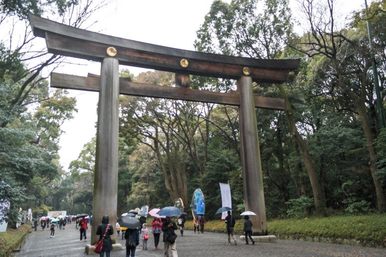 This is the largest wooden Otorii gate in Japan. The tree it's made from was 1500 years old.