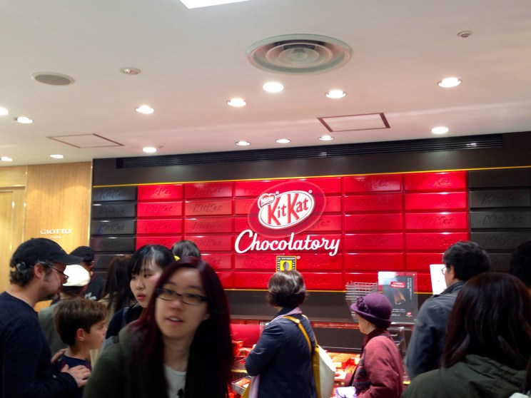 Everything was Kit Kat at this super crowded little shop