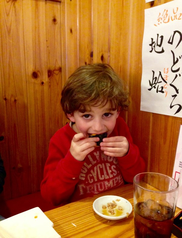 Elliot really dove into this piece of sea urchin, but later decided the texture wasn't his thing.