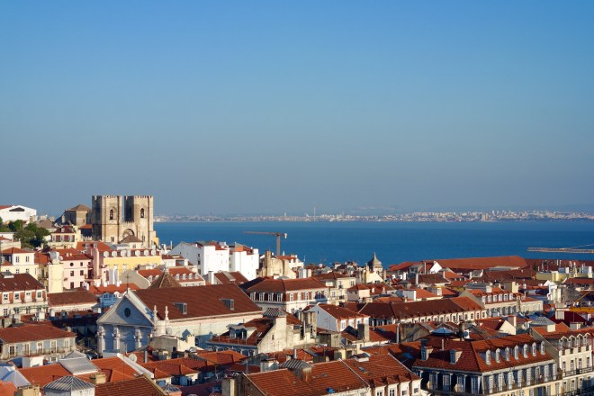 View of the Cathedral of Lisbon