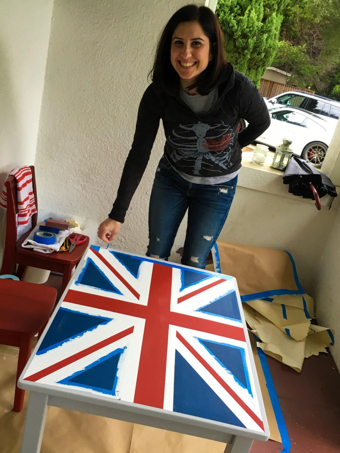 DIY Union Jack Table-