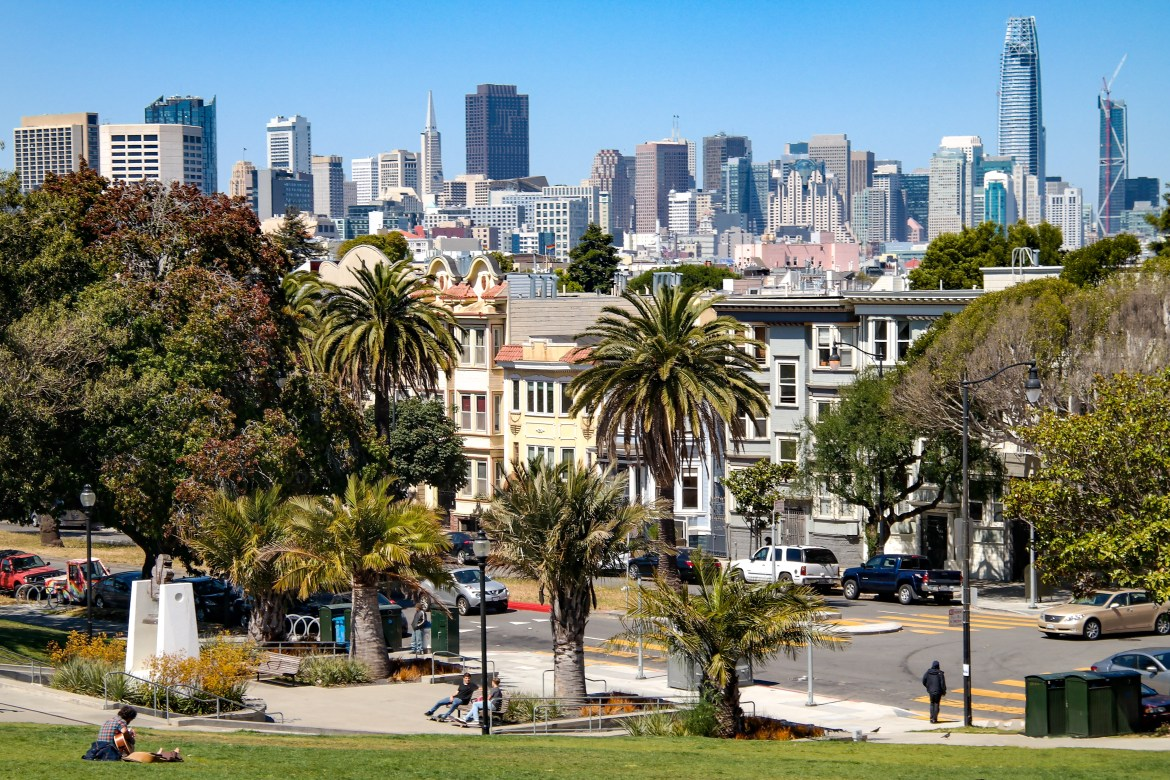 Mission Dolores Park San Francisco with Kids