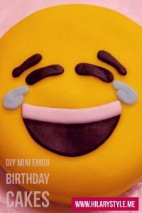 Mini Emoji Brithday Cakes