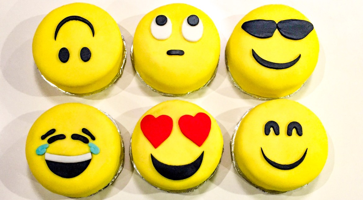 Mini Emoji Birthday Cakes