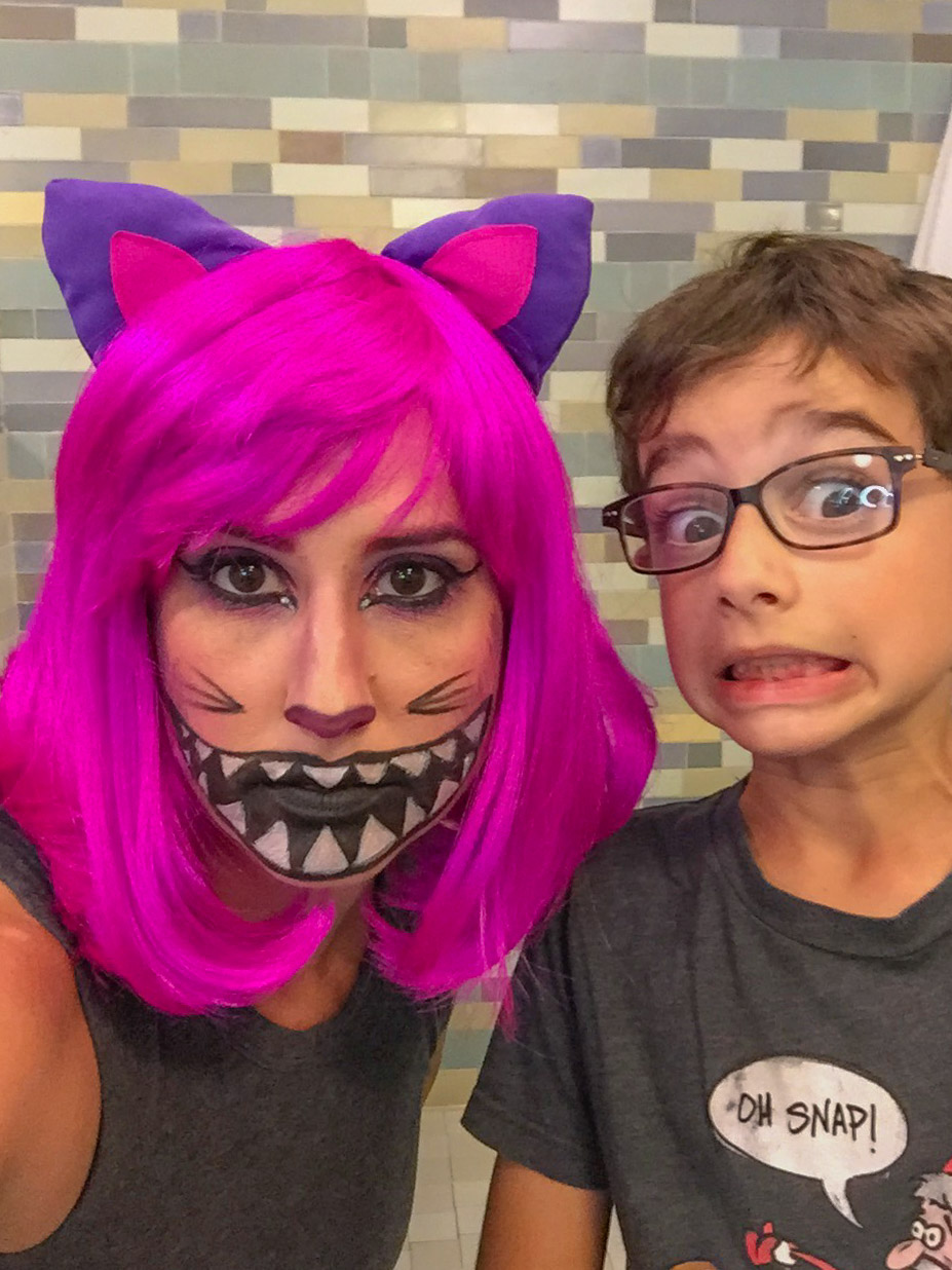 Cheshire Cat Costume Halloween 2017 #cheshirecatmakeup