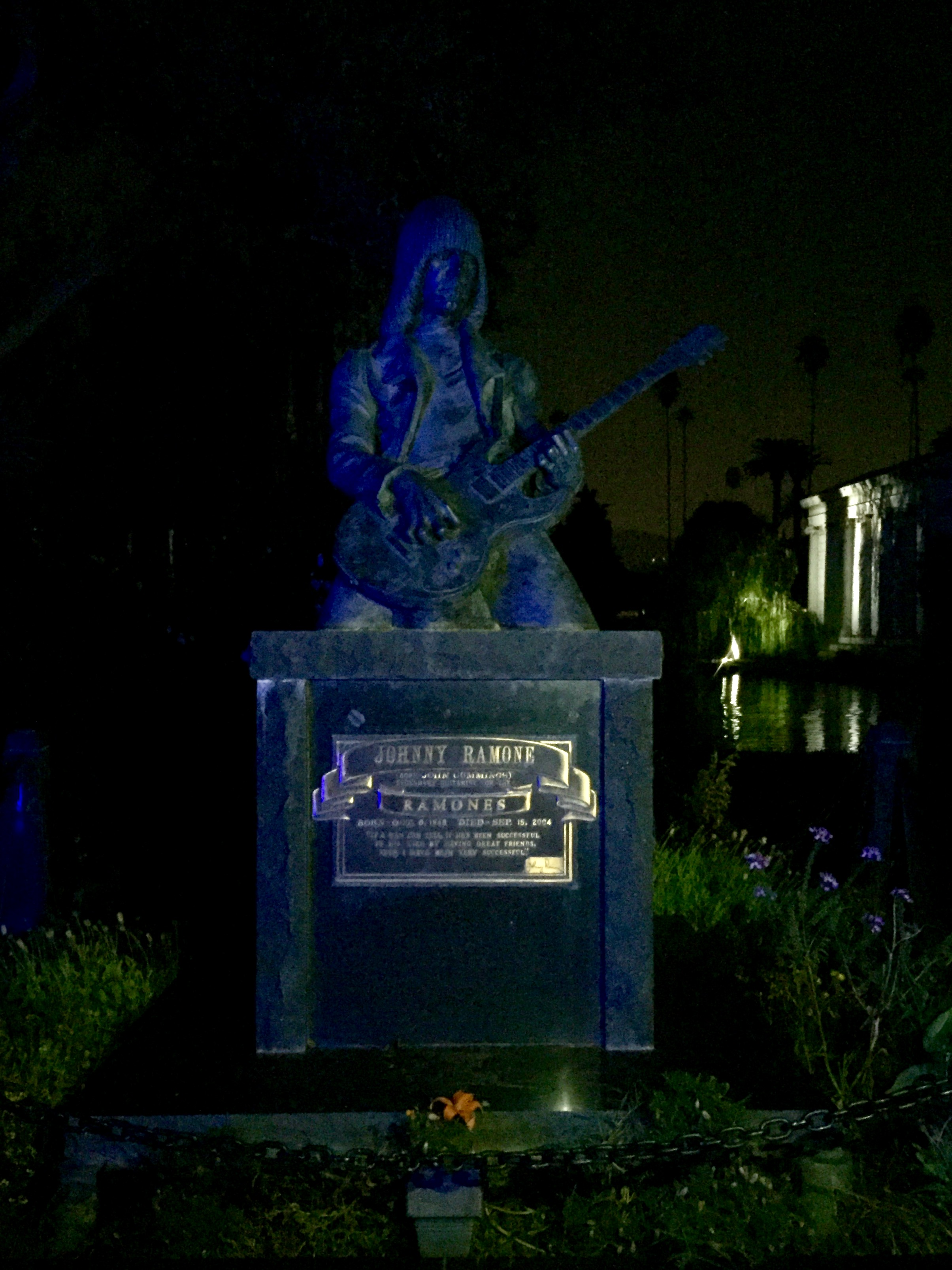Hollywood Forever Cemetery #johnnyramonegrave