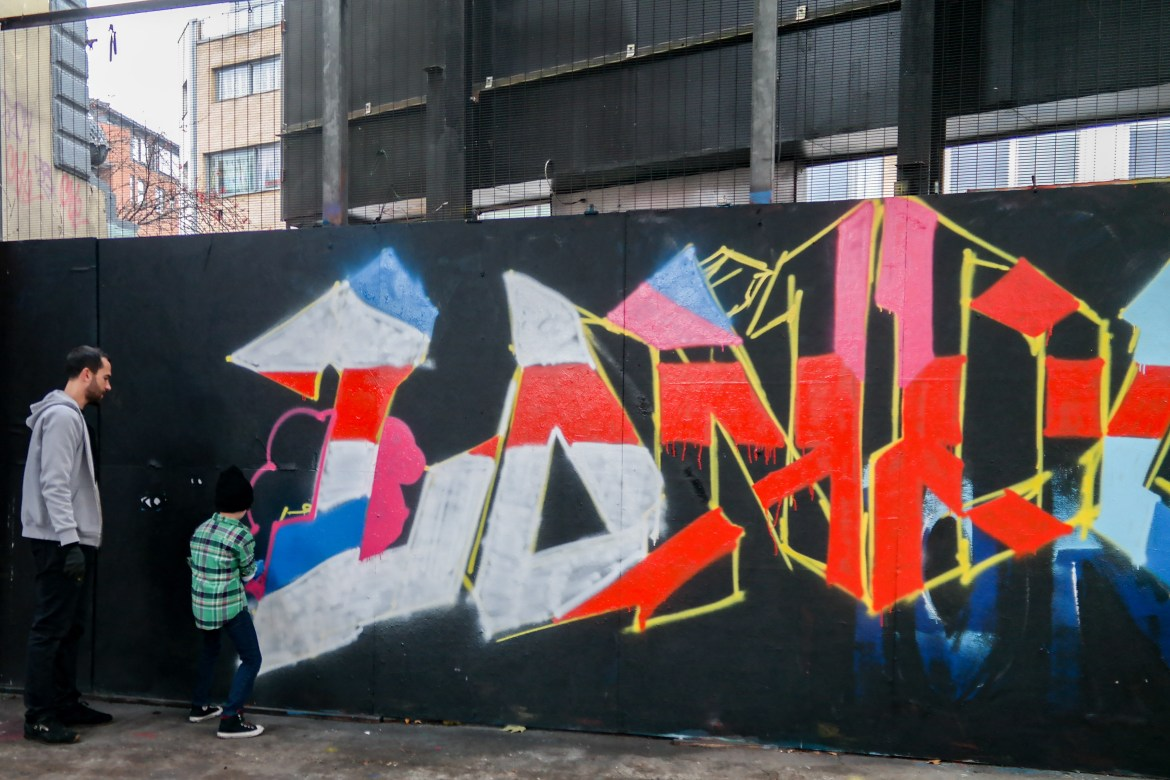 Things to do in London with Kids #graffiti