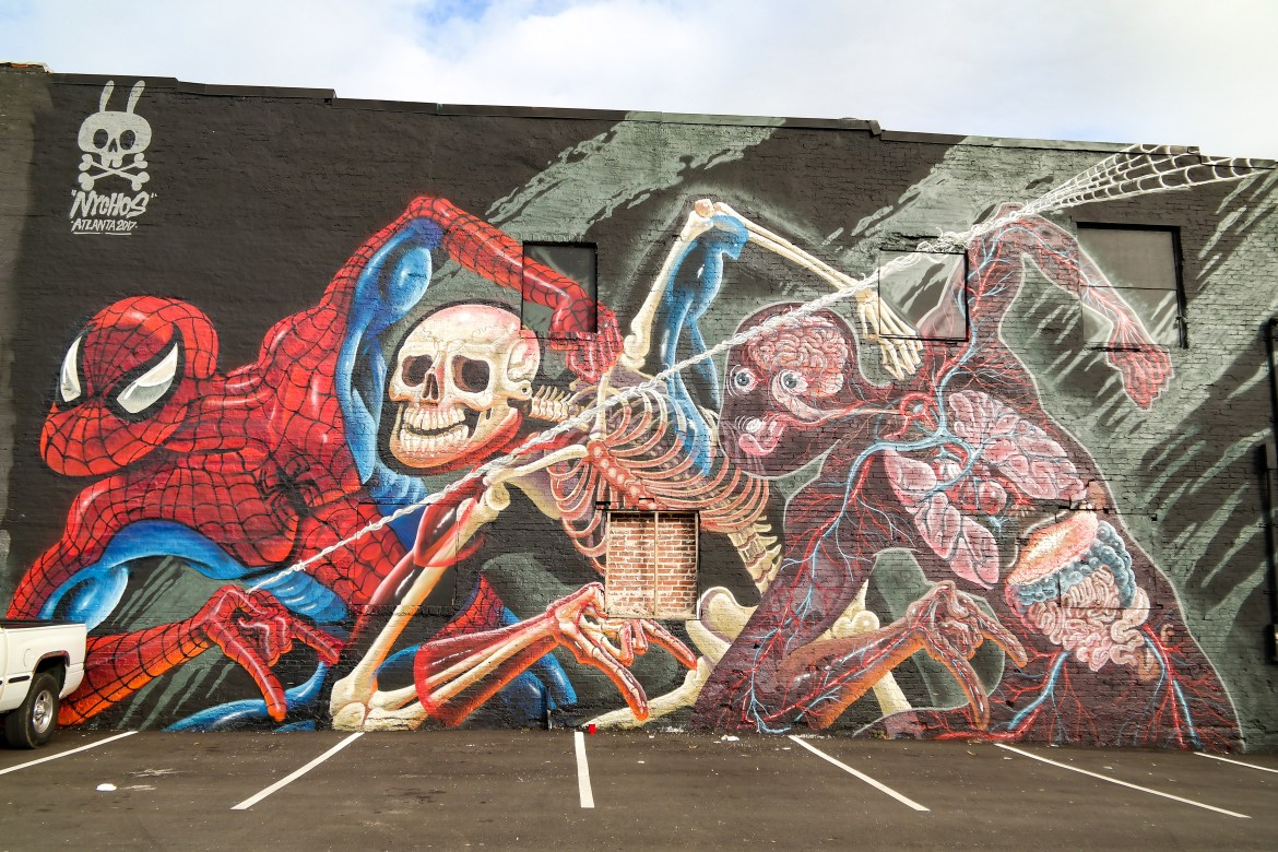 #outerspaceproject #nychos street art Atlanta Georgia