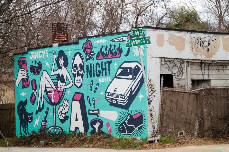 Street art #tommybronx Atlanta Georgia