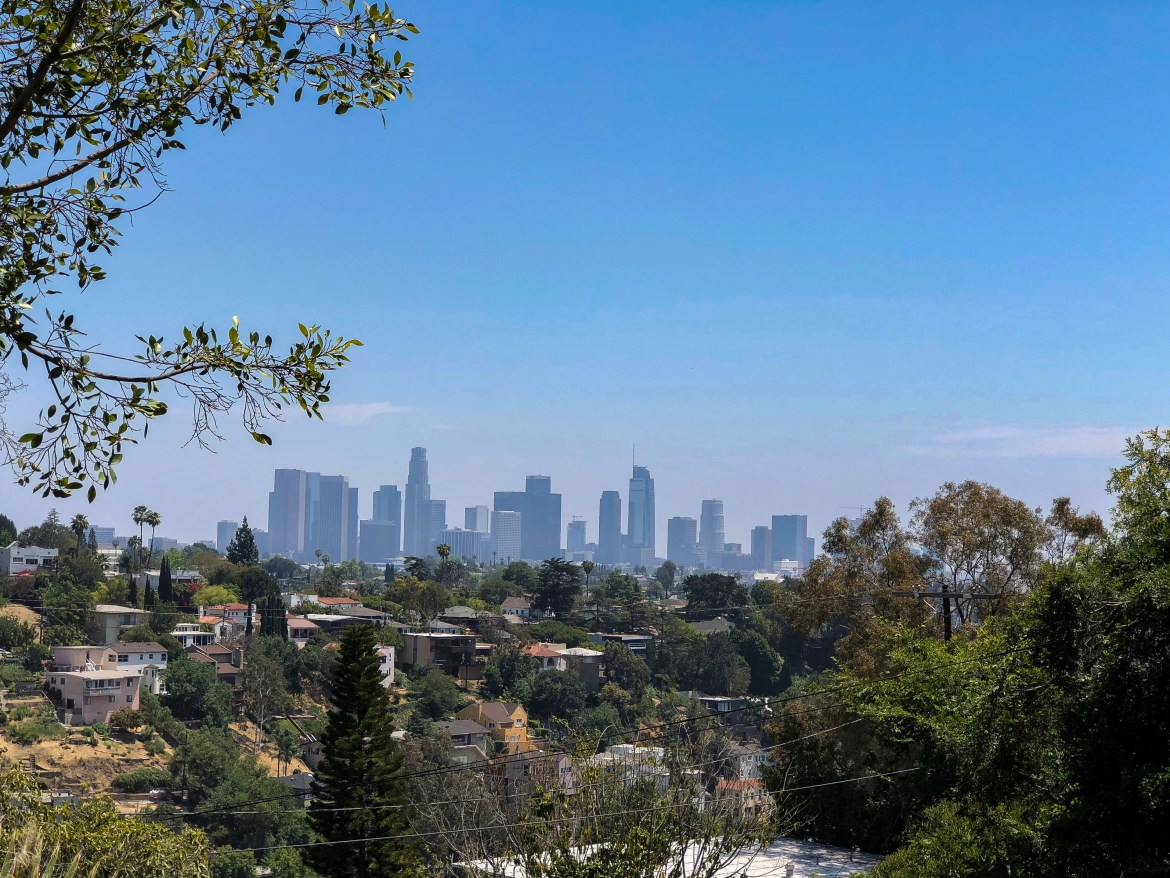 Swan Stair View Silver Lake Los Angeles California #laskyline #familytravel #silverlakewithkids