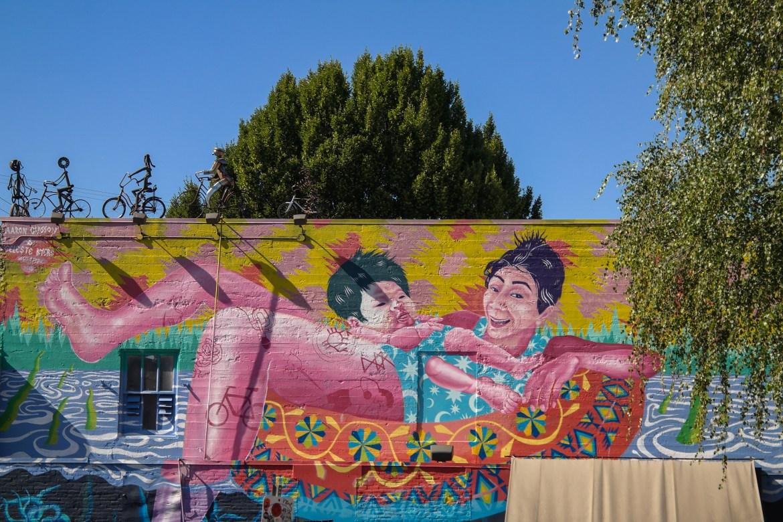 Artist(s): Aaron Glasson & Celeste Byers Street Art Portland Oregon