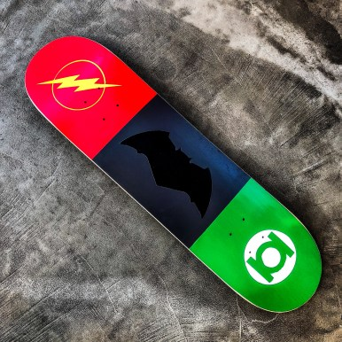 Inspired by DC Superheroes Skateboard Hilarystyle