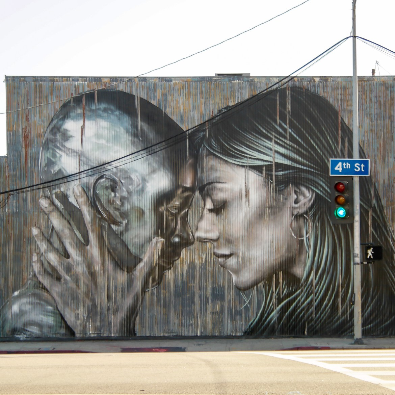 Street art Downtown Los Angeles California #Fanakapan #Starfightera