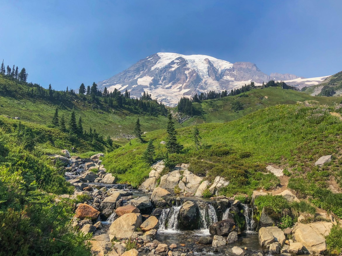 Myrtle Falls Paradise Mount Rainier Washington
