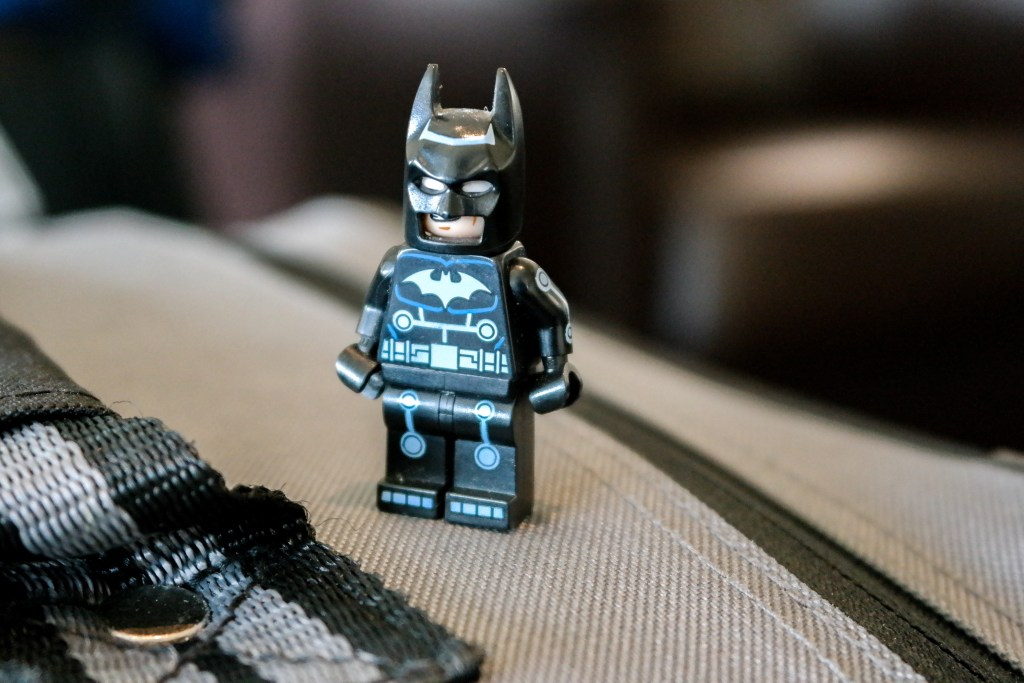 Batman is ready for his flight to Tokyo Japan