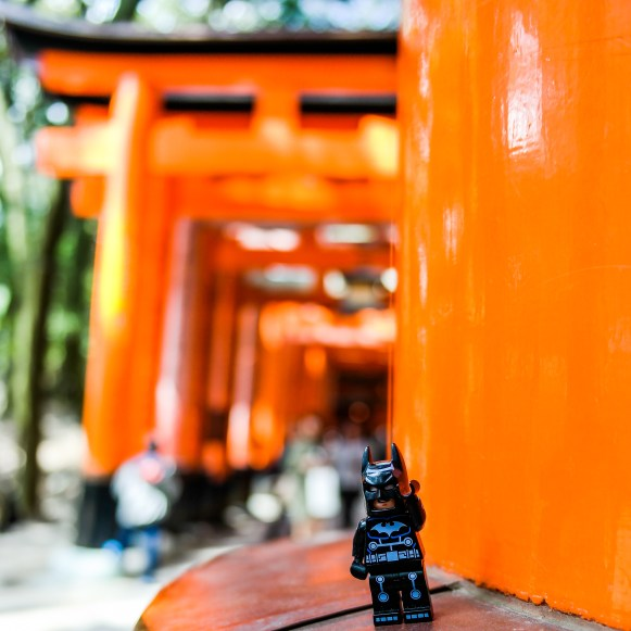 Batman goes to Fushimi-Inara Taisha Kyoto Japan