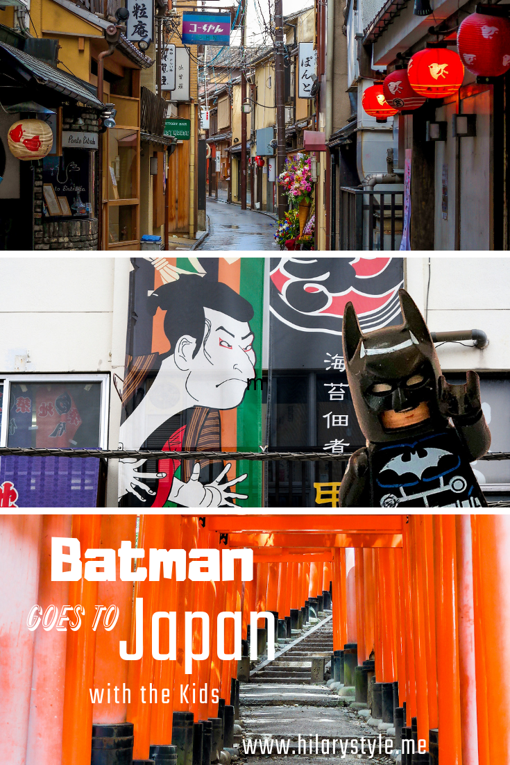 Batman goes to Japan with the kids