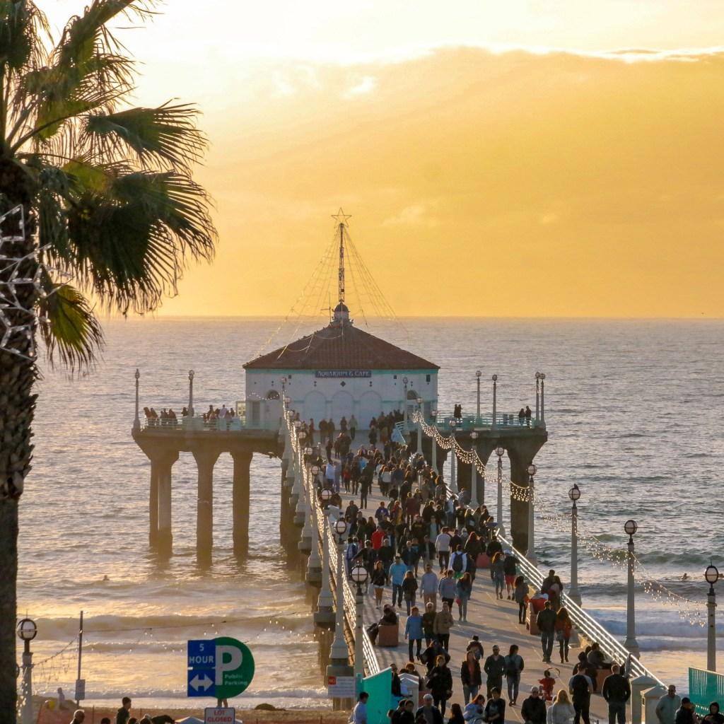 Manhattan Beach Pier Manhattan Beach California #manhattanbeachpier