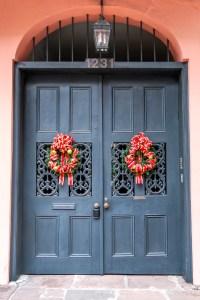 NOLA Festive Doorway New Orleans Louisiana