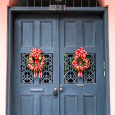 NOLA Festive Doorway New Orleans Louisiana