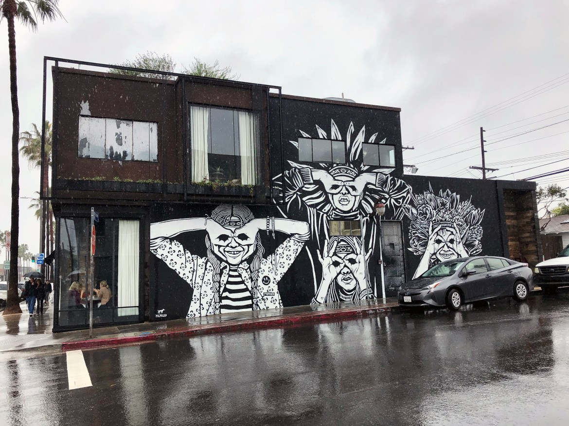 Abbot Kinney Gelina Mural Los Angeles California