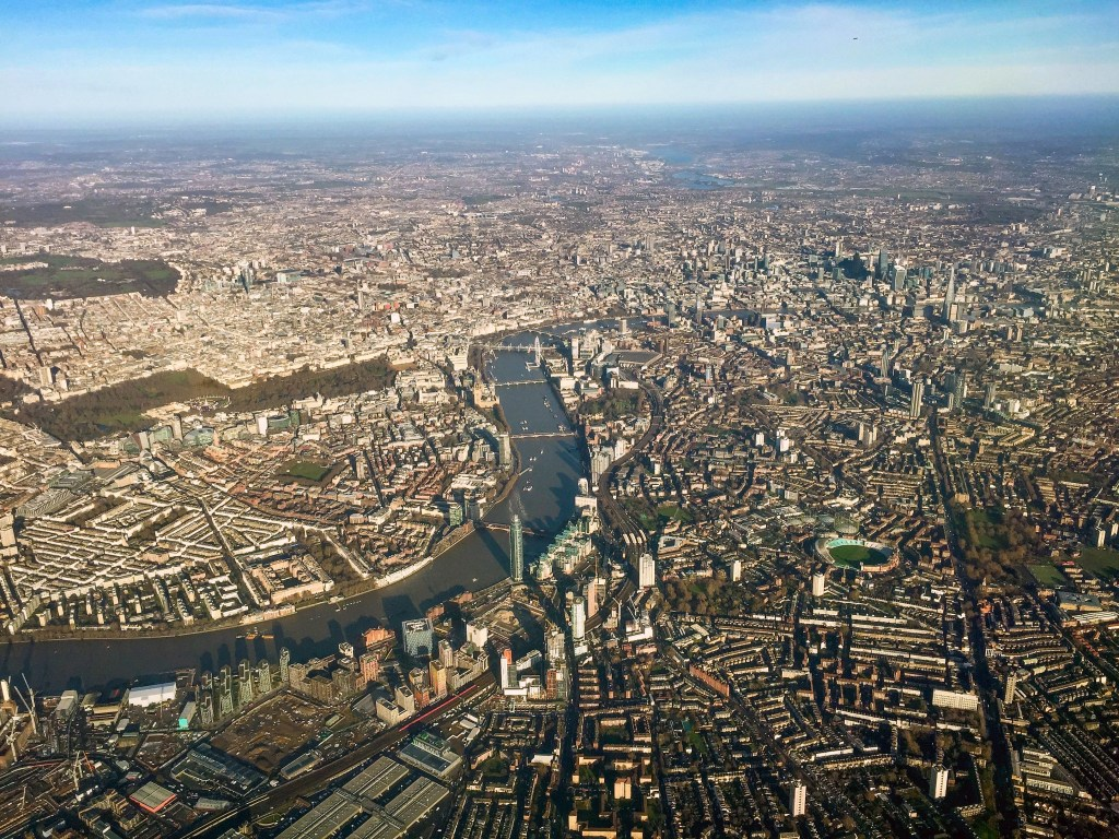 Airplane Birds Eye View London England United Kingdom #london