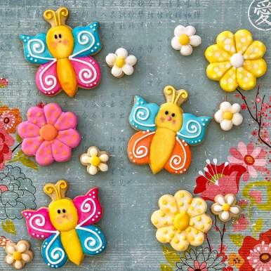 #cookieshilarystyle #cookiesareeverything #springcookies #customcookies #butterflycookies