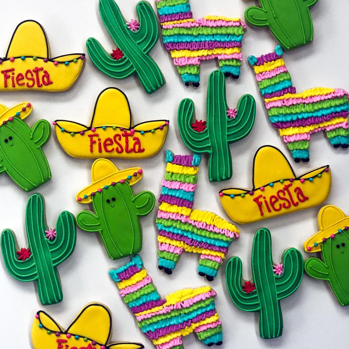Llama Piñata Cookies