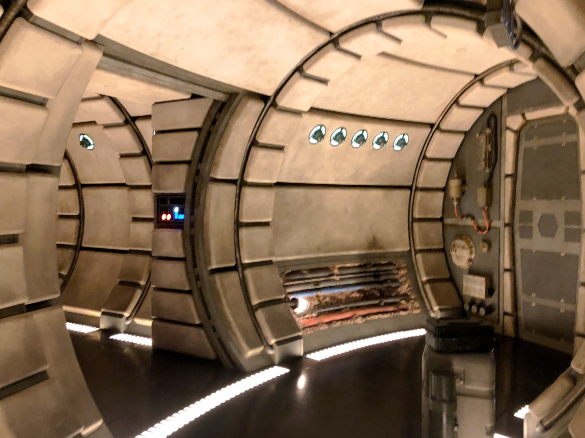Smuggler's Run Ride Interior Galaxy's Edge Disneyland-