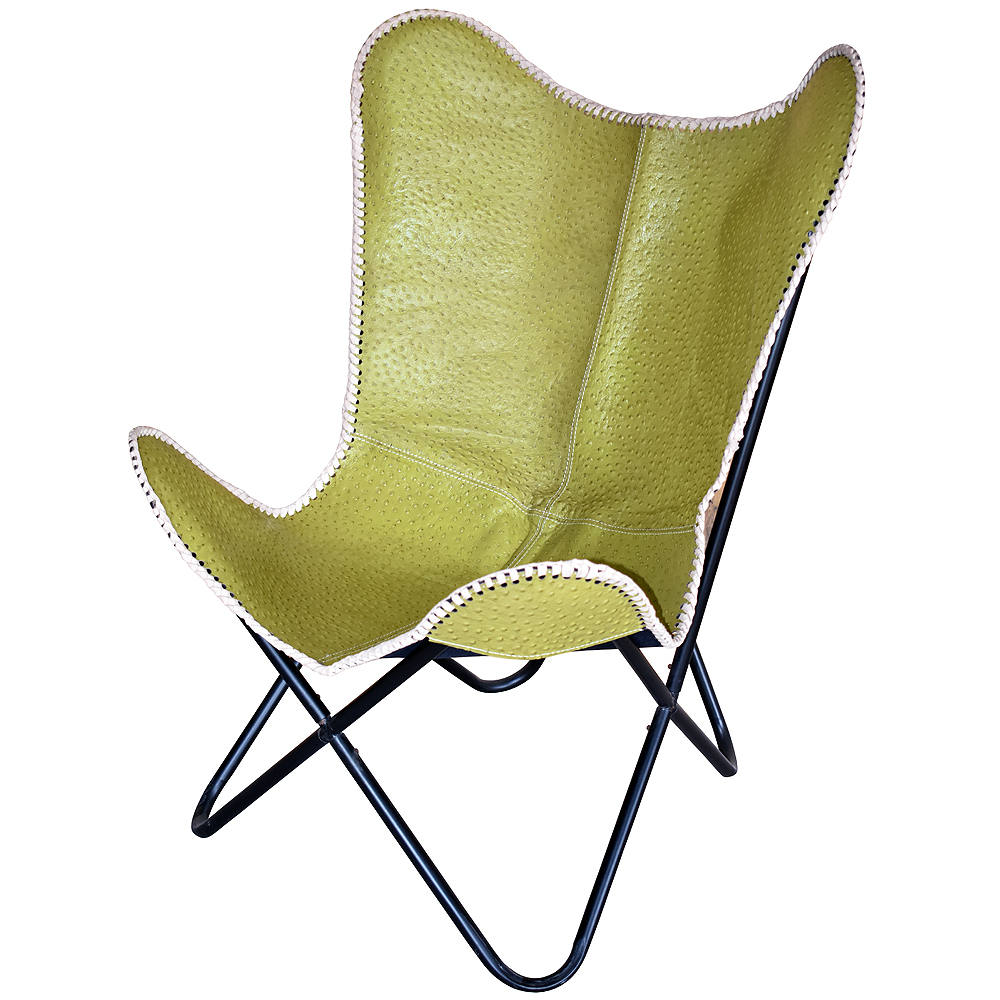 Butterfly Folding Chair Details About U B182 Genuine Leather Butterfly Chair Folding Lounge Modern Sling Accent Seat