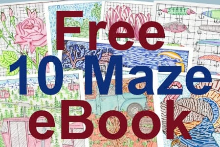 Free printable maze eBook with 10 hand drawn mazes. Perfect for gifts, classrooms, parties or for fun. Easily downloadable free printable PDF format. Great Mazes and Games for both kids & adults very challenging but fun.