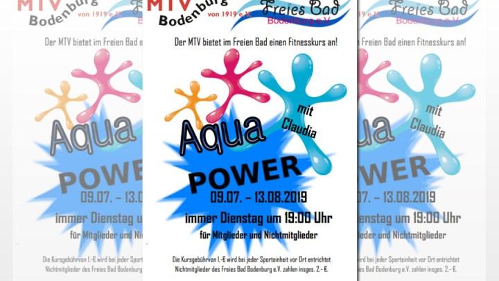 Aqua Power – Es geht wieder los