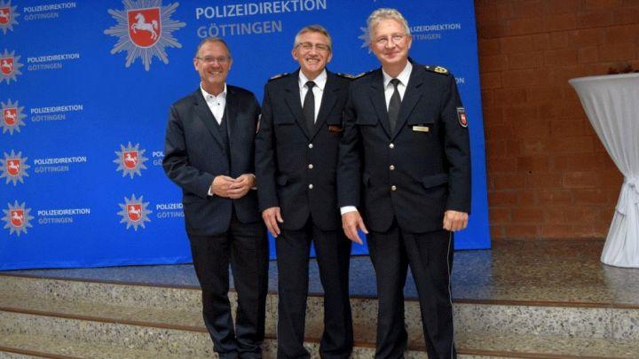 Offizielle Amtseinführung des neuen Polizeivizepräsidenten Gerd Lewin in der Polizeidirektion Göttingen