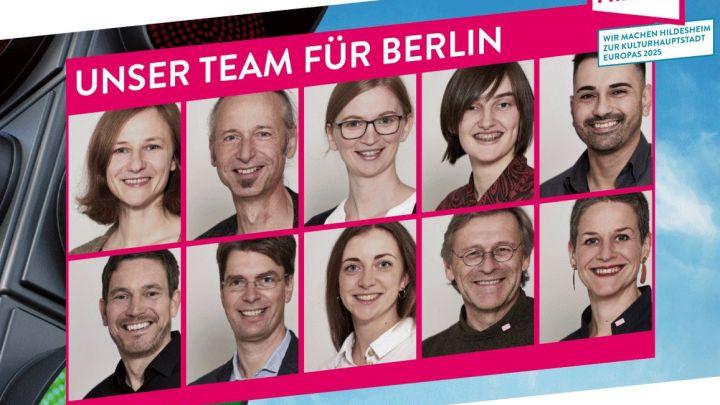 "Zehnköpfiges Team präsentiert am 11. Dezember 2019 Hildesheims Bewerbung zur ""Kulturhauptstadt Europas 2025"" in Berlin"