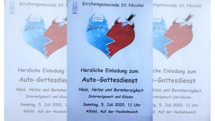 Erster Alfelder Auto-Gottesdienst – Auf der Hackelmasch geht es um Hass und Hetze im Internet