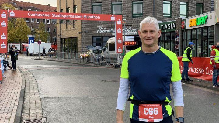 Jörg Hanne läuft den Cuxhaven-Marathon